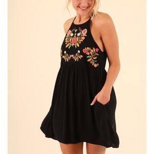 Black dress with gorgeous embroidered top